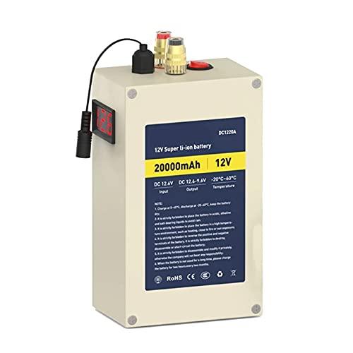 ZOOMLOFT Paquete De Batería De Litio Recargable De 12V 20Ah con Cargador