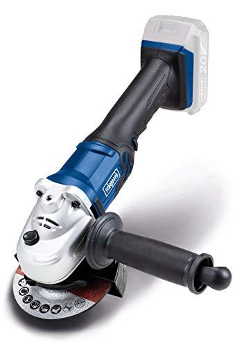 Scheppach 5903815900 CAG115-20ProS-Smerigliatrice angolare a Batteria | 20 Volt | Diametro 115 mm | Facile Sostituzione del Disco | Dispositivo di Base, Blu