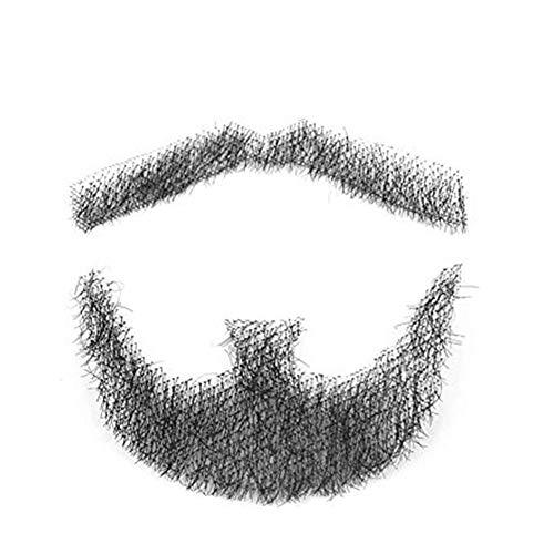 Barba de pelo haosshop, hecha a mano, para hombres, para disfraces y fiesta de Halloween