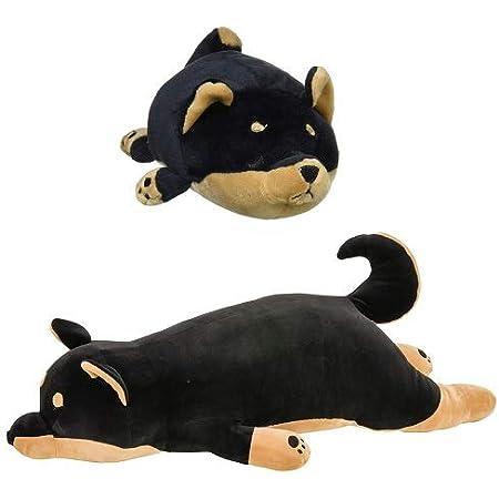 【セット】りぶはあと 抱き枕 プレミアムねむねむアニマルズ 黒柴のコテツ Lサイズ & マシュマロアニマル