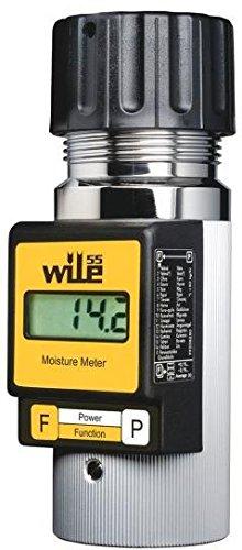 WILE 55 Analizador de humedad portátil para 16 variedades de Cereales, Semillas y Frutos Secos - Medidor robusto de precisión para agricultura