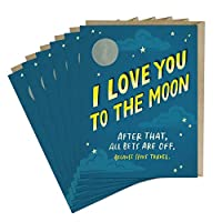 6-Pack Em & Friends To The Moon Love Card