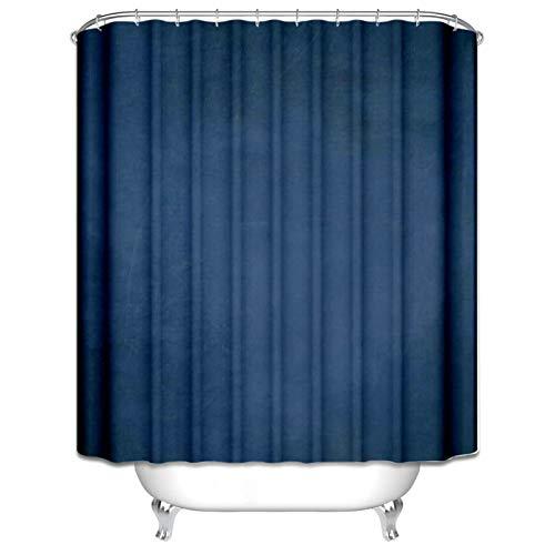 Aeici Duschvorhänge 90X180CM Einfach Polyester Badvorhang Antischimmel Dunkelblau Duschvorhang für Badezimmer