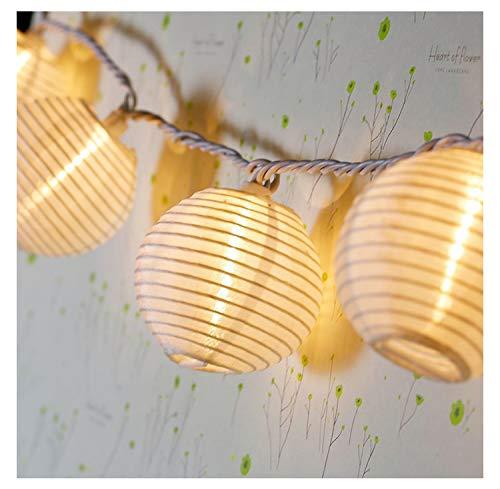 LED Solar Lichterkette Lampions Wasserdicht 20er LED Lampions Laterne Lichterkette Garten Innen und Außenbereich 5 M für Terrassen Dach Balkon Patio Pergola Pavillon. Warmweiß