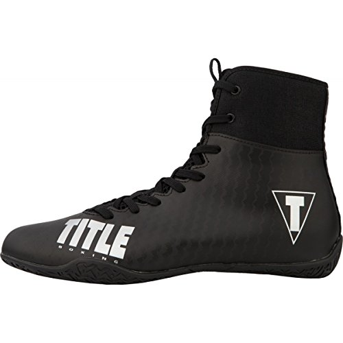Title Predator II Boxing Shoes, Black/Black, 11.5
