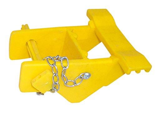 Reitsport Amesbichler Stangenauflage | Hindernisauflage Flache Auflage gelb PVC
