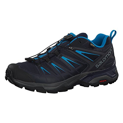 Salomon X Ultra 3 GTX, Chaussures de Randonnée Basses Homme, Graphite Night Sky Hawaiian Surf, 42 EU