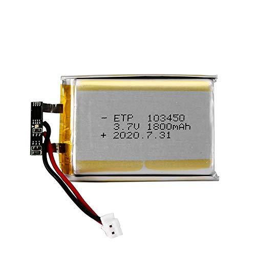 TOOGOO 103450 3.7V 1800Mah Batería Recargable de Litio Y Polímero de Lipo para Mp3 GPS Navegad Grabadora de DVD Auriculares E-Book Cámara