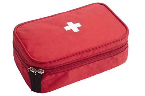 HomeStrap First Aid Kit Bag Large- Red (14 x 23 x 8.5) CM