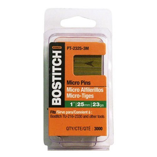 BOSTITCH Pin Nails, 23GA, 3/4-Inch, 3000-Pack (PT-2319-3M)