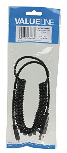 Valueline VLCP60540B20 - Cable USB 2.0 en espiral - Tipo A M
