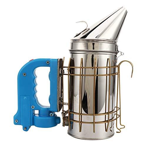 Ahumador de colmena eléctrico, ahumador de abejas eléctrico, equipo de apicultura, herramienta, pulverizador de humo de acero inoxidable con protección térmica