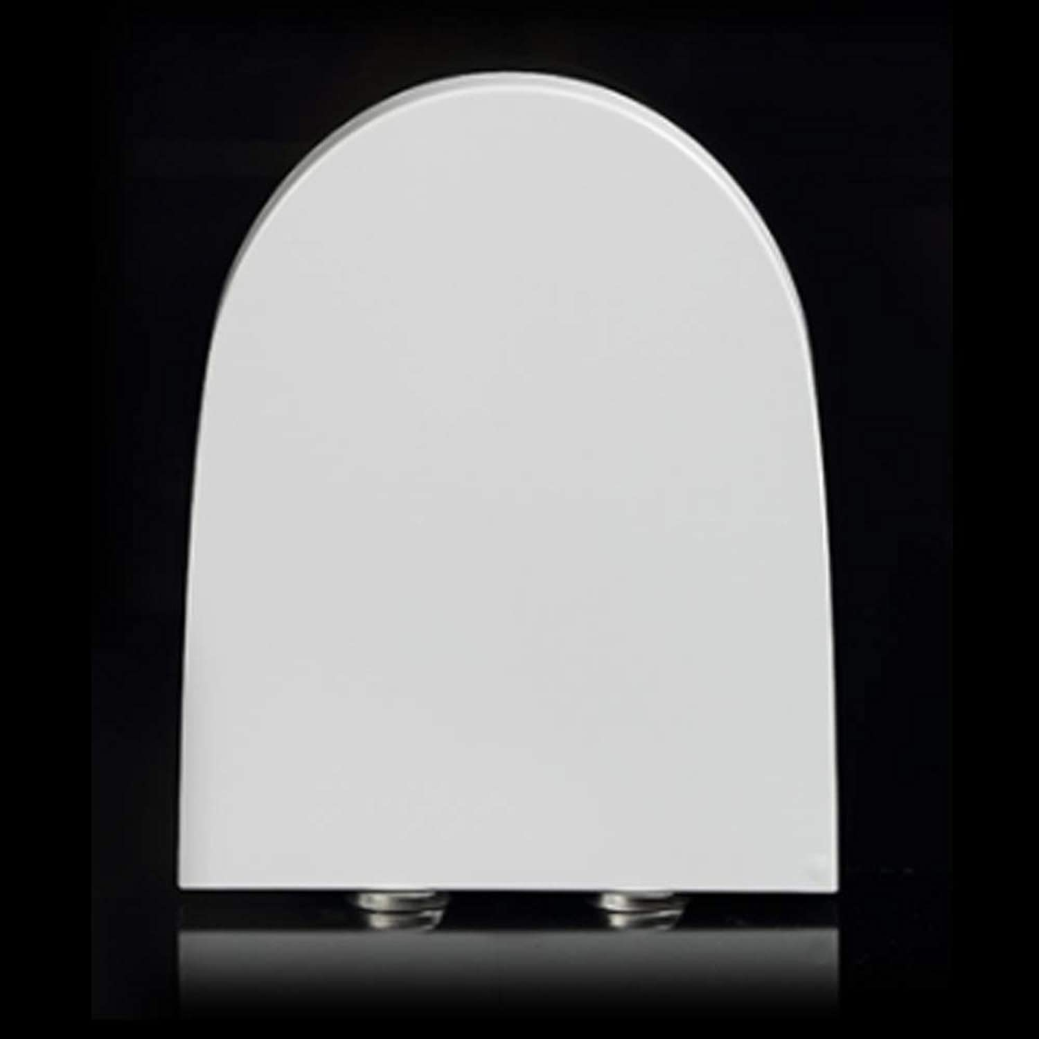 LBRVICTRY White V-Shaped With Soft Close Toilet Seat Antibacterial Easy To Clean,White-V