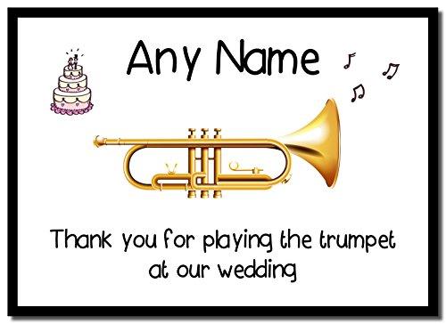 Bedankt voor het spelen van de trompet op onze bruiloft gepersonaliseerde muzemat