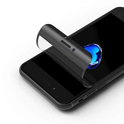 RhinoShield Protection écran 3D Impact Compatible avec [iPhone Se (2020) / 8/7] 3X Plus de Protection Contre Les Chocs - Bords incurvés 3D pour Une Couverture complète - Résistance aux Rayures -Noir