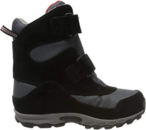 COLUMBIA Kinder Multisportschuhe, Wasserdicht, YOUTH PARKERS PEAK BOOT, Grau (Graphite, Bright Red), 35
