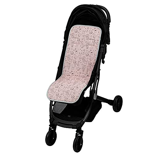Colchoneta silla paseo universal transpirable de algodon (animalito rosa)