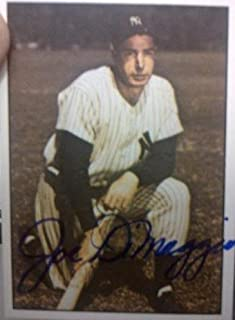 Joe Dimaggio Autograph On Card with Certificate of Authenticity