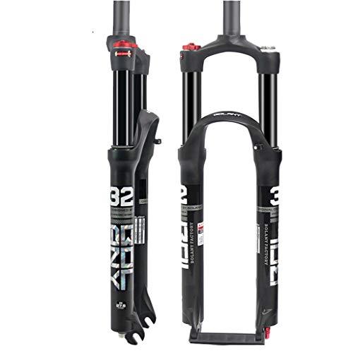 LBBL Federgabel Fahrrad MTB Gabel Carbon Steerer Rohrfederung MTB Mountainbike Gabel for Fahrrad 26/27,5/29 Zoll Stoßdämpfer Hub 100 Mm (Size : 27.5 inches)