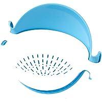 Cesta De Drenaje, Material Plástico, Fregadero. Doble Capa, Cocina Wash Fructer De Drenaje De Frutas, Sala De Estar Cuenco De Frutas, Cesta De Frutas Caseras, Azul