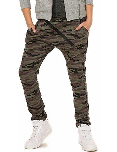 Camouflage Militär Jungen Hose Skate 116-158, Camouflage, 140 cm