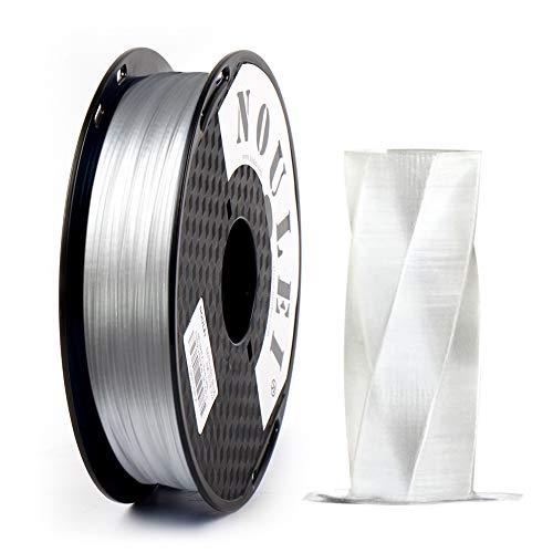 Noulei PETG 3D Drucker Filament 1.75mm Transparent, 0.5 kg Spool