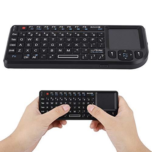 Mini Tastatur Wireless mit Touchpad, 2.4GHz Mini Computer Gaming Tastatur USB Wireless Keyboard mit Multimedia Tasten für PS3 / PS4, Xbox 360 und Xbox ONE
