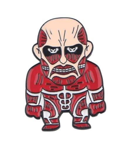 Pin Ropa Broche Solapa | Diseño Attack on Titan Ataque a los Titanes Anime | Mochilas Chaquetas Vaqueras | Titan Colosal