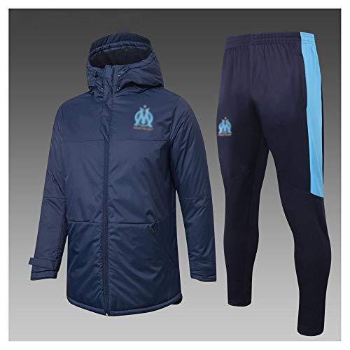 caijj Neue Herren Fußballuniform Geschenk Baumwolle Kleidung Fußball kältesicher Fußballfan kältesicher Anzug Fußball Hoodie männlich-B16-s