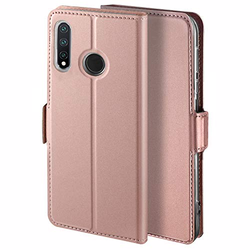 HoneyHülle für Handyhülle Nokia 3.2 Hülle Premium Leder Flip Schutzhülle für Nokia 3.2 Tasche, Rose Gold