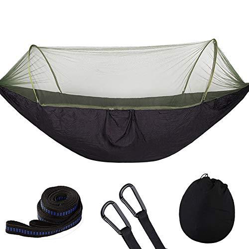 Acreny Draagbare hangmat, boom-hangende slaaptent met muggennet voor wandelen op reis