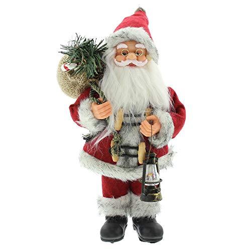 FRANK FLECHTWAREN Deko-Figur Santa mit Laterne