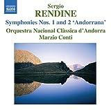 """Sergio Rendine : Symphonie n°1 - Symphonie n°2 """"Andorrana"""""""