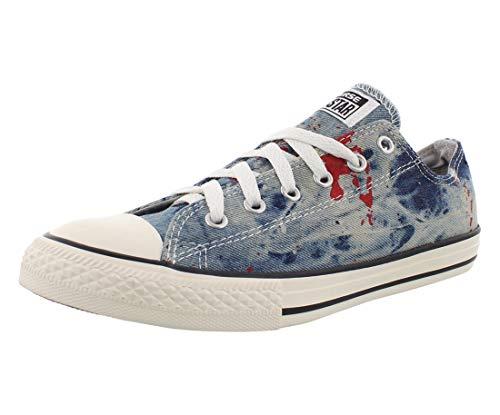 Converse All Star Low Chuck Taylor Ash Grey - Zapatillas deportivas para niños, color gris