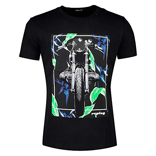REPLAY M3011 .000.2660 Camiseta, Negro (098 Black), S para Hombre
