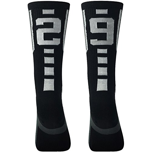 Baseball Socks for Women, Comifun White Black Volleyball Rugby Training Athlete Player Team Sports Unifrom Socks,1 Pair,Over 18 Years,