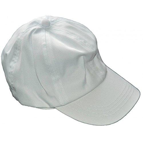 Schirmmütze für Erwachsene - Baseball Mütze aus Baumwolle weiß zum Bemalen