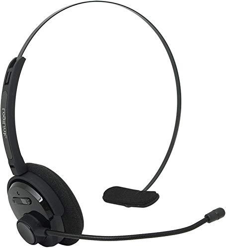 TronicXL - Auriculares con Bluetooth mono para smartphone diadema para auriculares y micrófono compatible con HTC Desire 19+ 12 12+ U12+ U12 Life U Play U11 U11+ Ultra 530 825 One M9 10 S9 A9s Evo