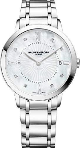 Baume y Mercier Classima 10225diamante de cuarzo mujer reloj