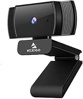 NexiGO AutoFocus 1080p Webcam with Stereo Microphone and Privacy Cover