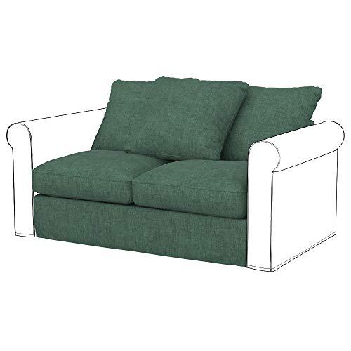 Soferia Funda de Repuesto para IKEA GRONLID módulos sofá de 2 plazas, Tela Softi Green, Verde
