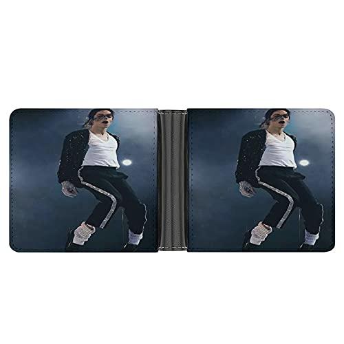 Michael Jackson Leder-PU-Geldbörse für Kreditkarten, Bargeld etc. DIY individuelle Geldbörse, modisches Kreditkartenetui