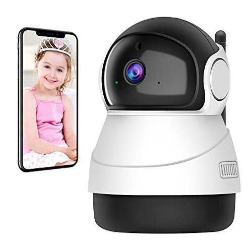 Accfly Heimkamera 1080P Wireless Wifi Indoor Kamera mit IP-Sicherheitssystem und Nachtsicht für Baby / Haustier / Ältere
