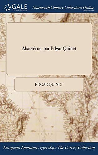 Ahasverus: Par Edgar Quinet