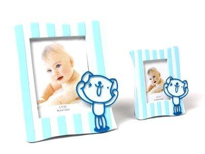 DISOK - Portafotos Juguetón Azul L - Regalos para Bautizos