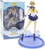 LJXGZY Juegos de Modelos de Anime Anime Modelo Hecho a Mano Sailor Moon Sailor Uranus tenoh Haruka Modelo de Personaje Colección Decoración Modelo Regalo de cumpleaños Estatua 20cm