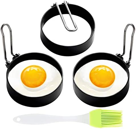 Egg Ring 3 Pack Egg Pancake Maker Mold Stainless Steel Non Stick Circle Shaper Egg Rings Kitchen product image
