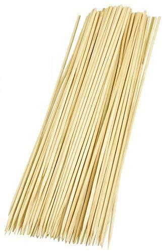 300 Stück Bambus Schaschlikspieß, ca 25cm, Grillspieß, Bamboo Skewer + gratis Glück Aufkleber