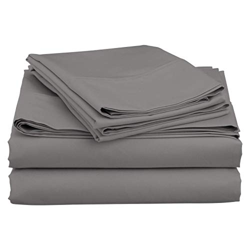 """A&R Boating Sheet Set - 100% Egyptian Cotton 800 Thread Count Universal V Berth The Best Boat V Berth Bedding Fits Mattresses up to 6"""" Depth - Great Gift for Boaters! (Silver Solid)"""
