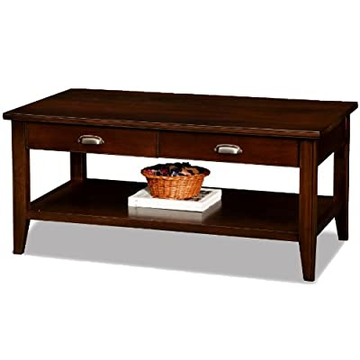 Leick Laurent 2 Drawer Coffee Table with Storage